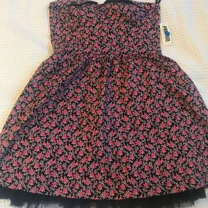 Black PacSun dress with flowers.  Strapless dress